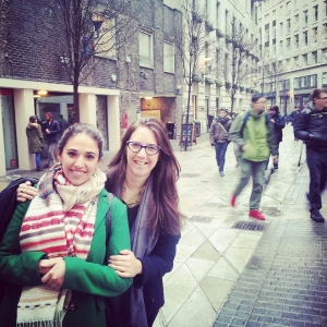 Agustina and Gabriela on Houghton Street, LSE campus