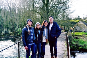 My hall friends and I on a road trip in Bibury