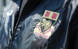 LSE crest on a jacket