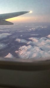 Picture from an aeroplane showing northern Norway