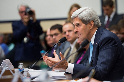 Secretary of State John Kerry at the House of Armed Services Committee on 10 September Credit: Secretary of Defense (Creative Commons BY)