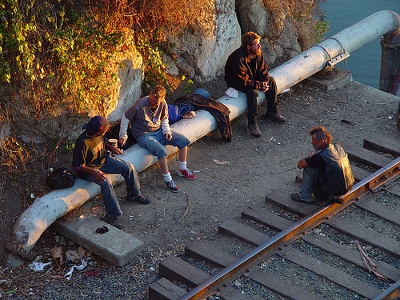 Homeless Life in Santa Cruz, CA Credit: Franco Folini (Creative Commons BY SA)