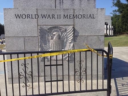 World War II Memorial during the Government Shutdown Credit: John Sonderman (Creative Commons BY NC)