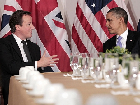 UK Prime Minister David Cameron meets with US President Barack Obama in New York in 2011 Credit: UK PM's Office (Creative Commons BY NC ND)