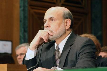 Chairman of the Federal Reserve, Ben Bernanke gives evidence to the US Senate Commitee on Banking, Housing & Urban Affairs