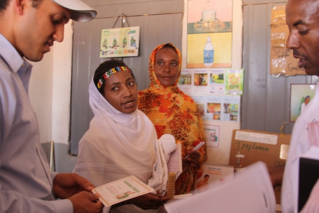 USAID Health extension workers at government health posts in Ethiopia register women and their families for a services including family planning. Credit: USAID U.S. Agency for International Development (Creative Commons BY NC)