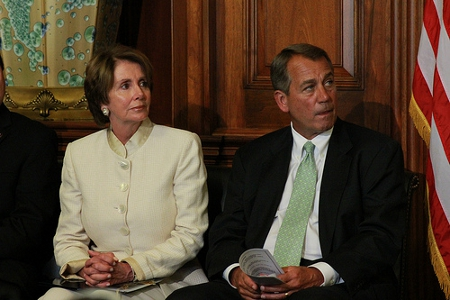 House Speaker John Boehner and House Minority Leader Nancy Pelosi Credit: Talk Radio News Service (Creative Commons BY NC SA)