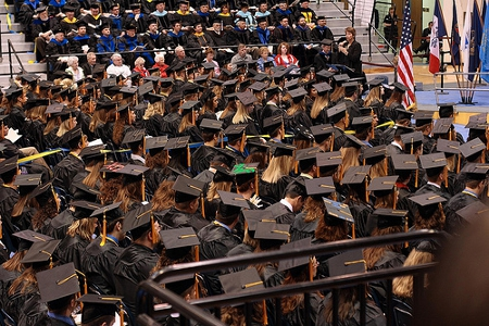 Graduation at South Dakota State University  Credit: Sarah Cady (Creative Commonms BY NC SA)