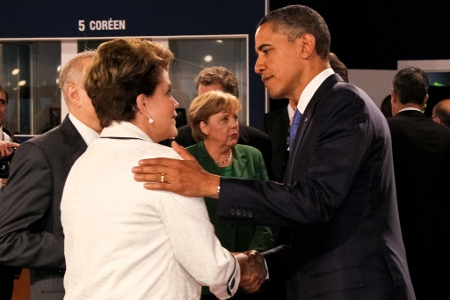 Brazilian President Dilma Roussedd and US President Barack Obama in 2011 Credit: Dilma Rousseff (Creative Commons BY SA)