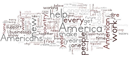 Wordle of Obama's State of the Union 2014 Credit: John Schinker (Creative Commons BY NC SA)