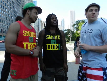 Two young entrepreneurs showing off their clothing line in Chicago in 2012. Credit: John W. Iwanski (Creative Commons BY NC)