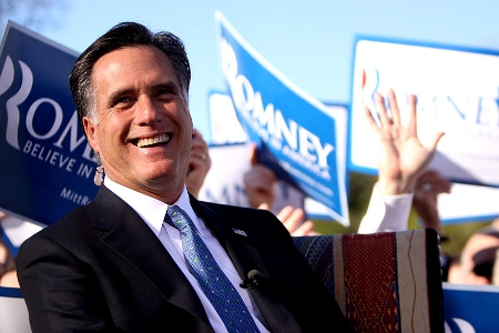 Mitt Romney on the campaign trail, 2011 Credit: Gage Skidmore (Creative Commons BY SA)