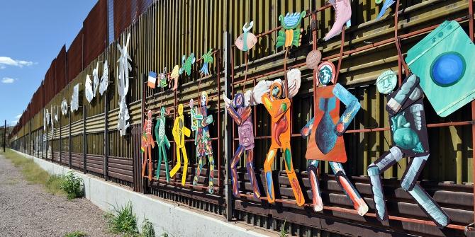 Border Wall Mural in Nogales, Mexico. Credit: Jonathan McIntosh (Flickr, CC-BY-NC-SA-2.0)