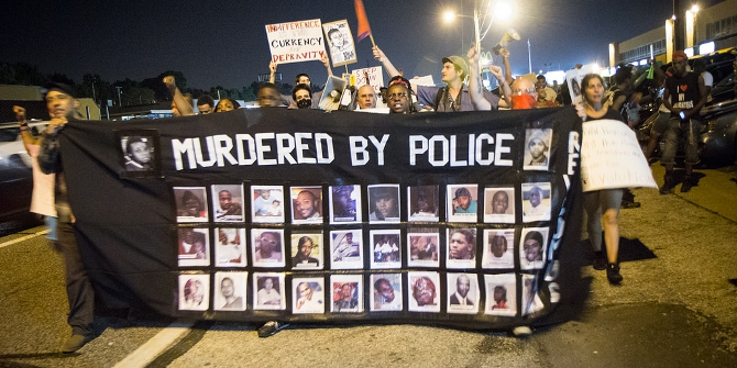 Protesters in Ferguson, Missouri. Credit: Youth Radio (Flickr, CC-BY-NC-SA-2.0)