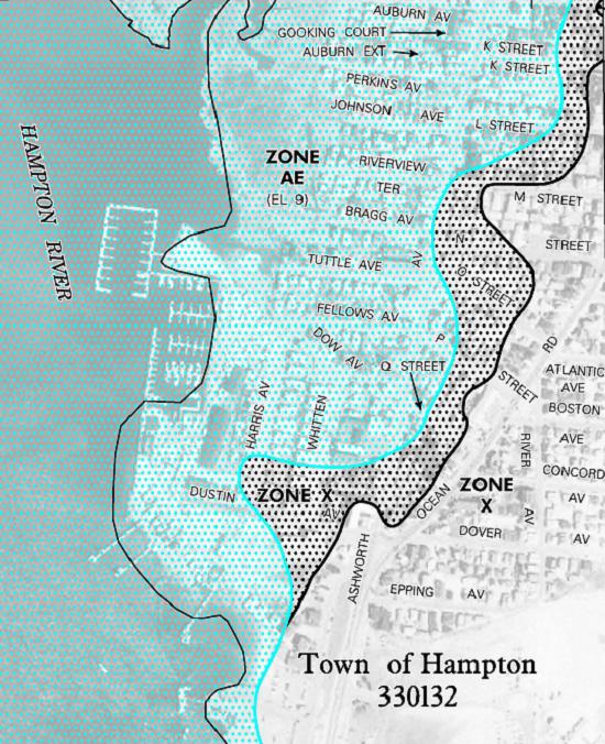 Flood map Gallagher