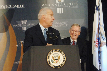 Vice President Joe Biden and Senator Mitch McConnell Credit: McConnell Center (Flickr, CC-BY-NC-ND-2.0)