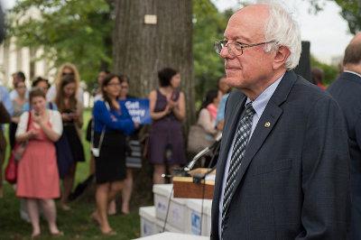 Senator Bernie Sanders Credit: Senate Democrats (Flickr, CC-BY-2.0)