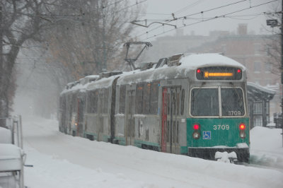 Green Line trolley in Boston Credit: MaxVT (Flickr, CC-BY-NC-SA-2.0)
