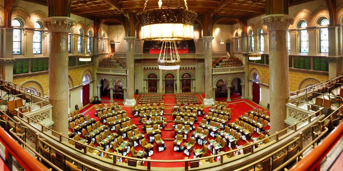 Partisan competition undermines legislative efficiency in state legislatures only in very specific situations.