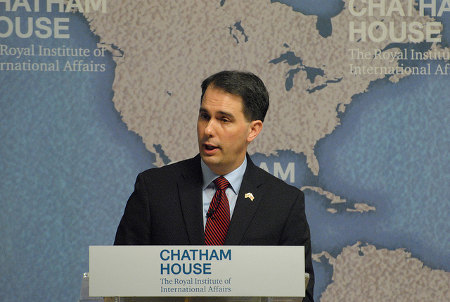 Wisconsin Governor, Scott Walker Credit: Chatham House (Flickr, CC-BY-2.0)