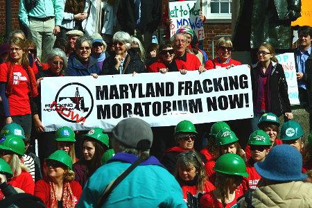 Fracking protest, Maryland Credit: Maryland Sierra Club (Flickr, CC-BY-NC-SA-2.0)