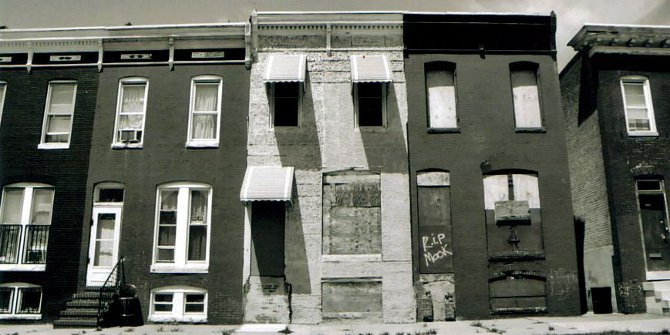 Abandoned row houses in Baltimore