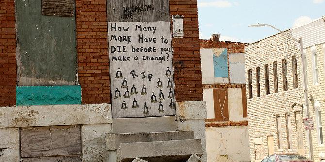 Sign in Baltimore. Credit: Talk Radio News Service (Flickr, CC-BY-NC-SA-2.0)