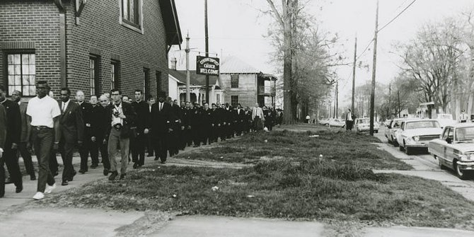 Alabama civil rights movement: Selma to Montgomery march: Central Baptist church (Monday, March 15, 1965) Credit: Jack Rabin collection on Alabama civil rights and southern activists, 1941-2004 (bulk 1956-1974) ,