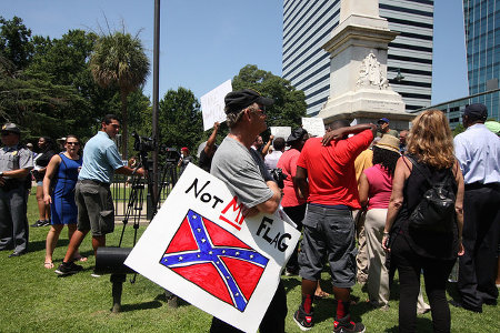 Take Down The Confederate Flag Rally at SC State House  Credit: Perry B McLeod (Flickr, CC-BY-NC-SA-2.0)