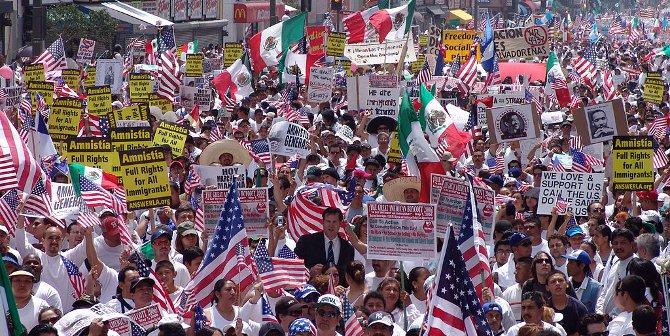 2006 immigrant protest LA featured