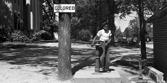 """Segregation 1938b"" by John Vachon for U.S. Farm Security Administration - Library of Congress[1]. Licensed under Public Domain via Wikimedia Commons."