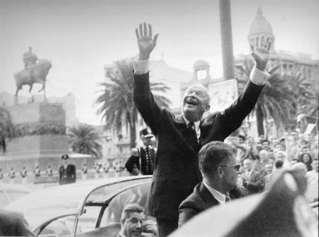 President Eisenhower visits Uruguay, 1960 Credit: U.S. Embassy Montevideo (Flickr, Public Domain)