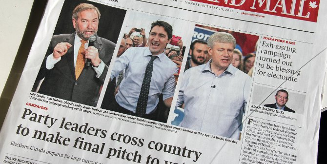 Canada election paper featured