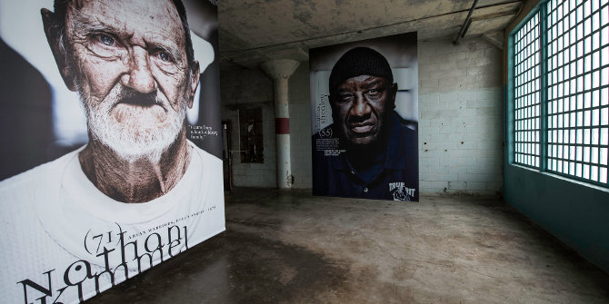 Alcatraz - Prisoners of Age. An exhibition of older incarcerated prisoners in the US penal system. Credit: mattharvey1 (Flickr, CC-BY-ND-2.0)