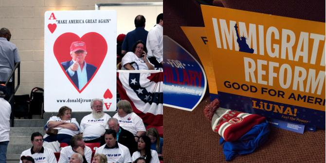 Trump clinton signs