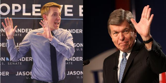 In Missouri's Senate race, Democrat Jason Kander's positioning as an outsider has turned Roy Blunt's incumbency into a disadvantage.