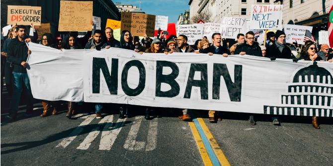 Protests against Trump's immigration executive order may have helped shift public opinion against it.