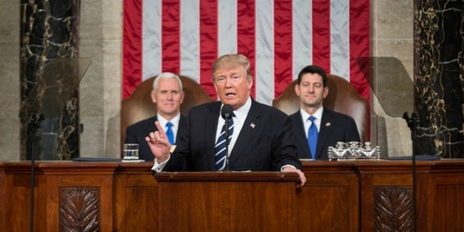 "Trump's ""quietly radical"" address, the age of existential politics, and the ""24 trillion dollar bezzle"": roundup of US academic political blogging for 25 February – 3 March"