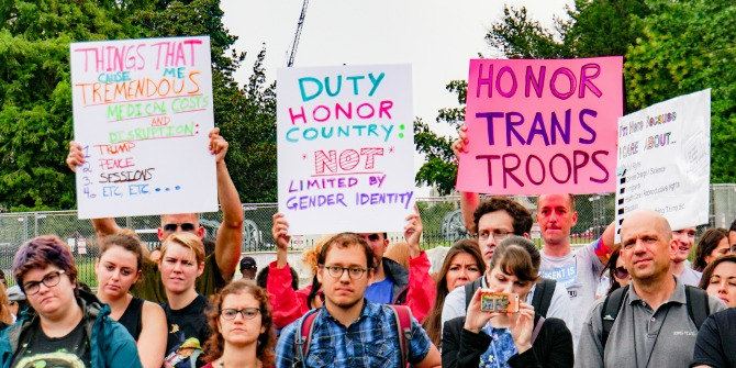 Trump's transgender ban reminds us that the US military does not float above politics