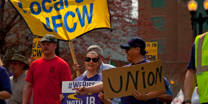 Despite declining membership, organized labor continues to reduce economic inequality in the American states