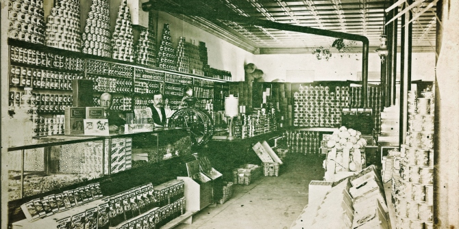 A picture of the retail grocery industry during the Great Depression