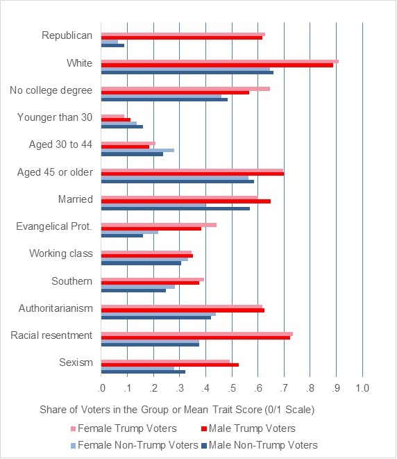 Women voted for donald trump for the same reasons men did racism determining the extent to which the motivations of trumps female and male supporters may also be similar requires multivariate analyses ccuart Image collections
