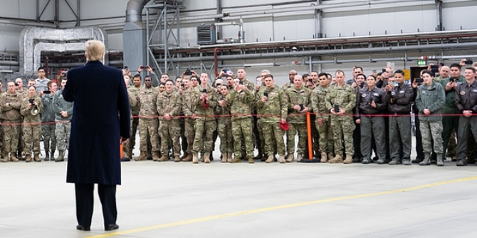 Trump's base does not support withdrawing US troops from Syria; Americans continue to favor international engagement.