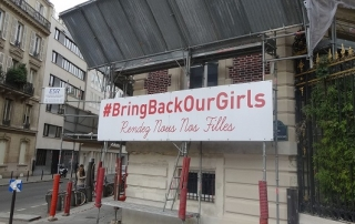 Image of #BringBackOurGirls poster in France