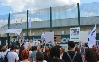 Protest at Yarls Wood Immigration Detention Centre